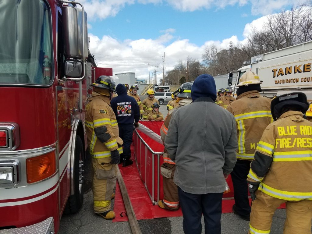 Potomac Valley Assist with Fire Fighter 1 Class