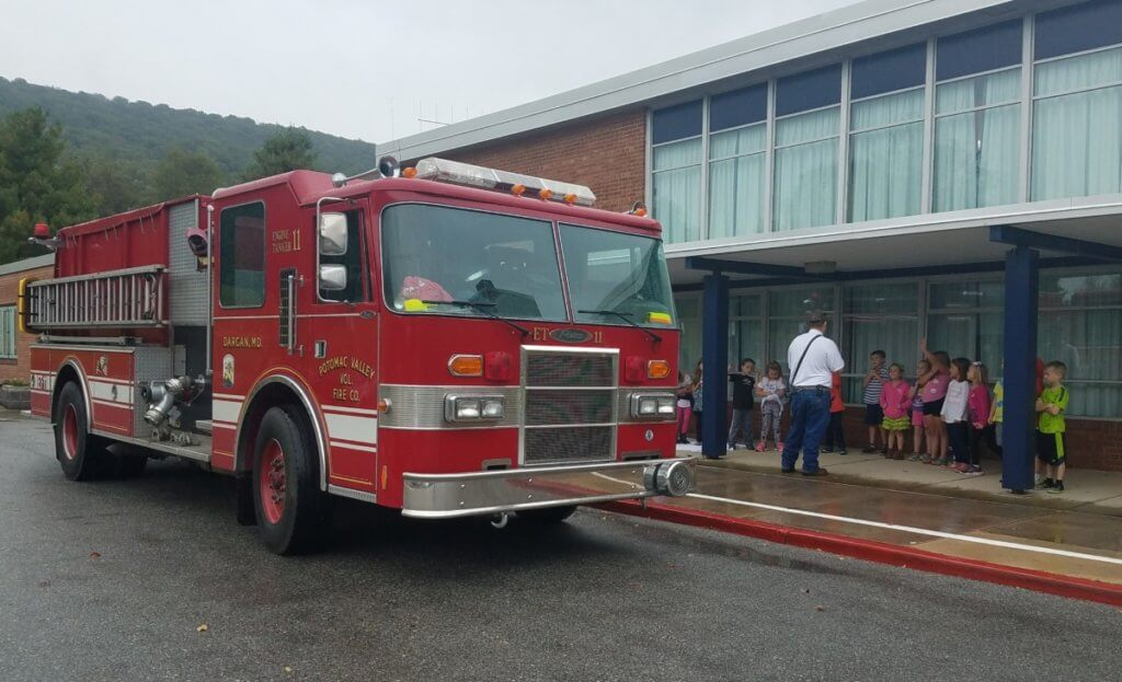 Fire Prevention Day at Pleasant Valley Elementary school