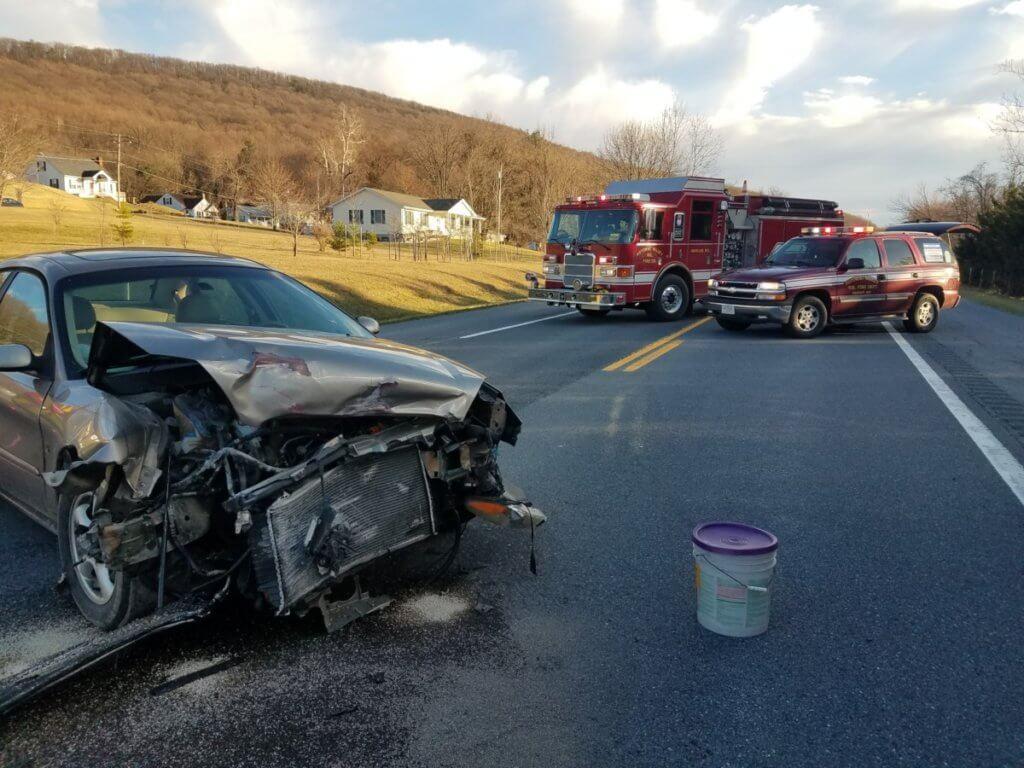 Collision on Rt.67 (Rohrersville Rd)