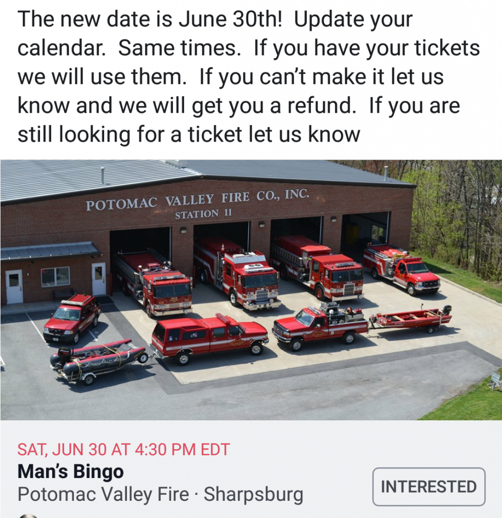 Re-Scheduled – Men's Bingo